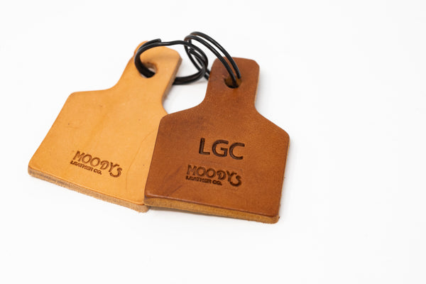 Cow Tag Keychain - Moody's Leather Co.