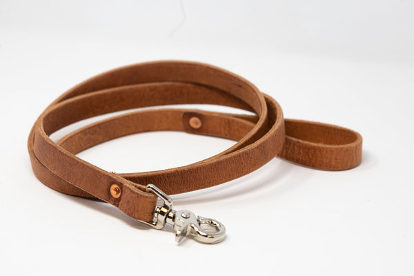 Leather Dog Leash - Moody's Leather Co.