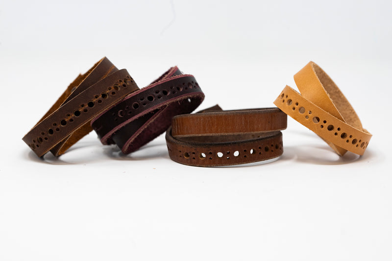 Double Wrap Leather Cuff - Moody's Leather Co.