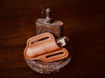 Trapper Knife Sheath - Moody's Leather Co.