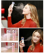 Load image into Gallery viewer, Nano Ionic Facial Steamer Portable Handy Moisture Sprayer