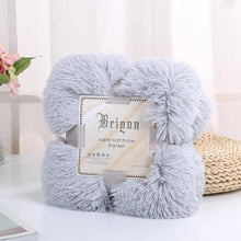Load image into Gallery viewer, Winter Thicken Warm AB Sided Long Plush Fleece Blanket  Bedding Cover TV Blanket