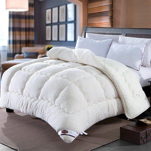 Thicken Shearling Blanket Winter Soft Warm Bed Quilt for Bedding Twin Full Queen King Size