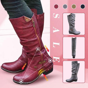 【Last Day Promotion, 69% OFF】Women's Cowboy Knee Boots Punk Boots - lucytreemart