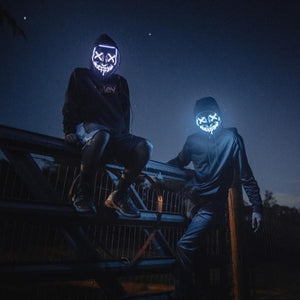 Halloween Led Purge Mask - Halloween Party & Rave Glow Purge Mask
