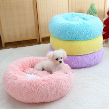 Load image into Gallery viewer, Plush Dog Pet Donut Bed