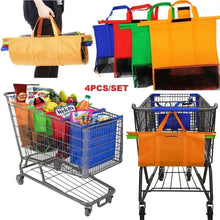 Load image into Gallery viewer, 4PCS  Shopping Trolley Bags,Foldable Cart Folding Grocery Reusable Supermarket Carry Bag - CozyBuy