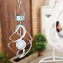 Load image into Gallery viewer, Outdoor Solar Lights Spiral Wind Chimes - wind chimes, solar lights, solar powered lights, outdoor solar lights, - World Gift Deals