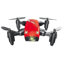 Load image into Gallery viewer, Foldable Mini RC Drone Test Warehouse Geek red no camera