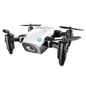 Foldable Mini RC Drone Test Warehouse Geek white with camera
