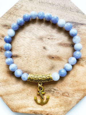 Angelite Beaded Bracelet