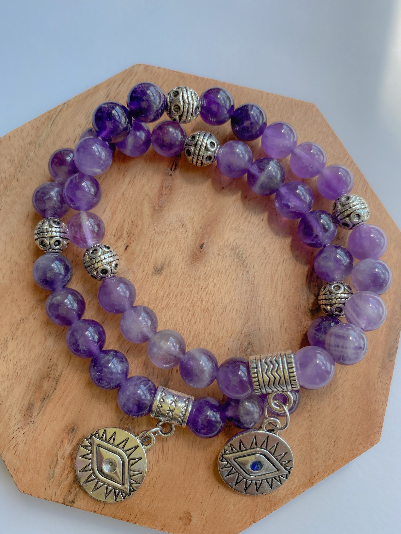 Amethyst Evil Eye Sets