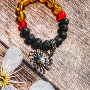 """I Love Maryland"" Lava stone beaded bracelet"