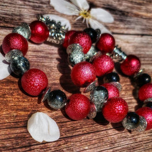 """I Love Maryland"" red beaded bracelet"