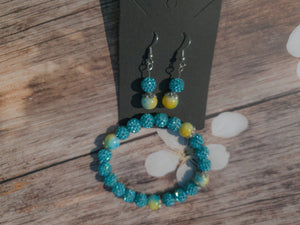 Shamballa Aquamarine Set