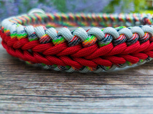 Adjustable Multi Color ParaCord Dog Collar, XL