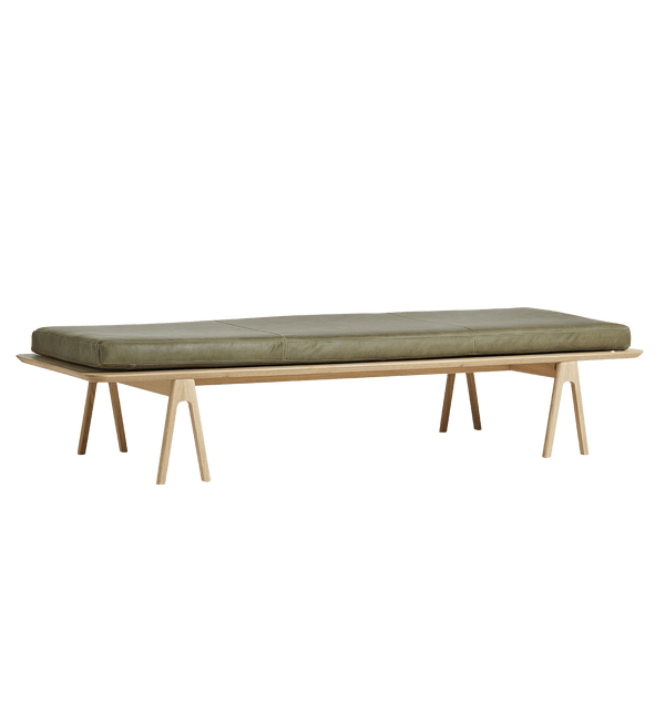 WOUD Daybed, Level, Eg / Mosegrøn - 190x76,5xH41