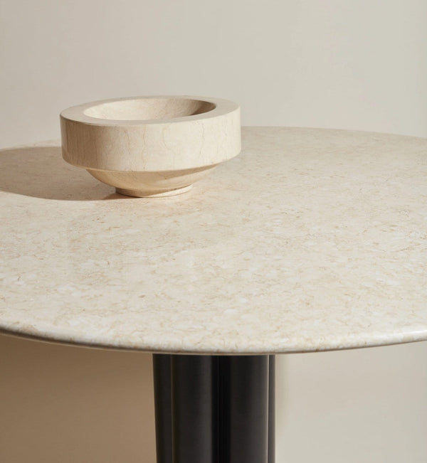Louise Roe Bord, Round About Table, Sunny Beige Marmor - Ø90 H74