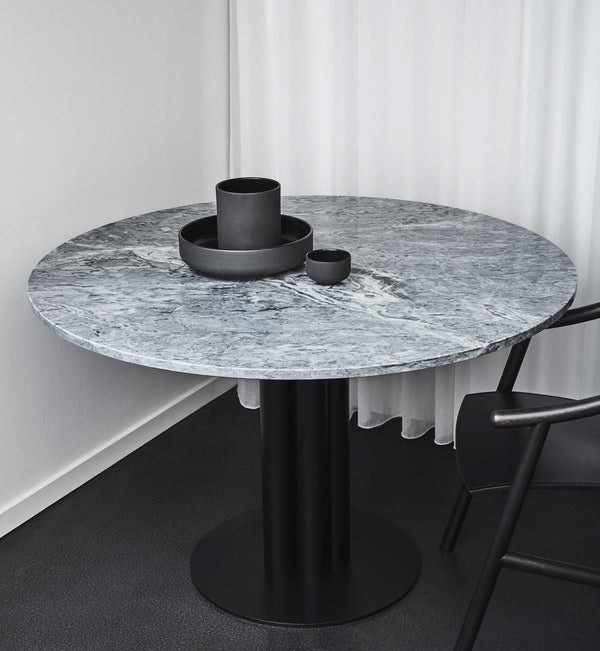 Louise Roe Bord, Round About Table, Grå Marmor - Ø90 H74