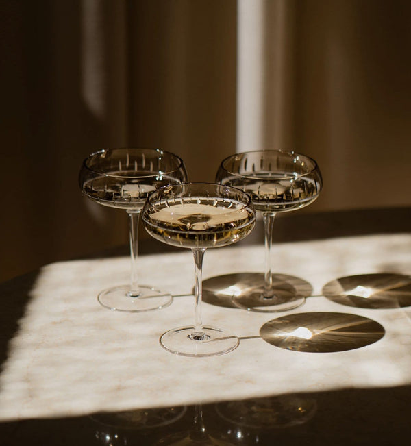 Louise Roe Champagneglas, Crystal Champagne Coupe, Smoke