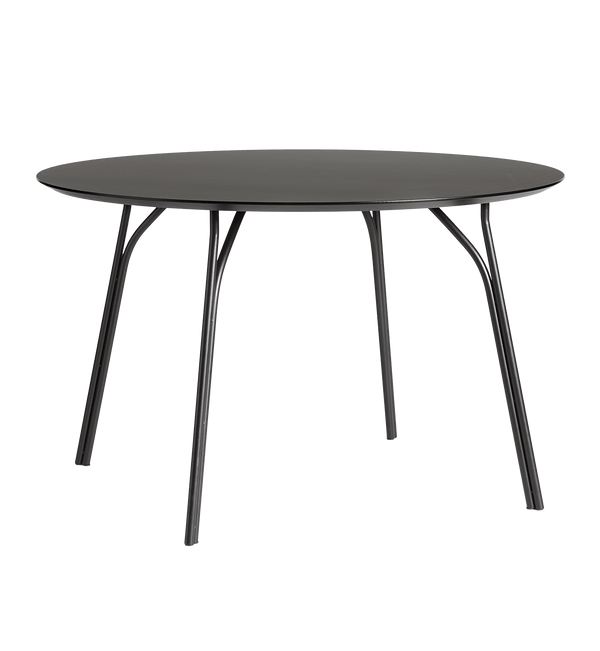 WOUD Spisebord, Tree Dining Table, Black - Ø120 H74