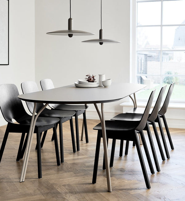 WOUD Spisebord, Tree Dining Table, Beige & Black - 220x90xH74