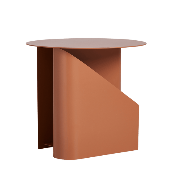WOUD Sidebord, Sentrum, Metal, Burnt Orange - 40x40xH36