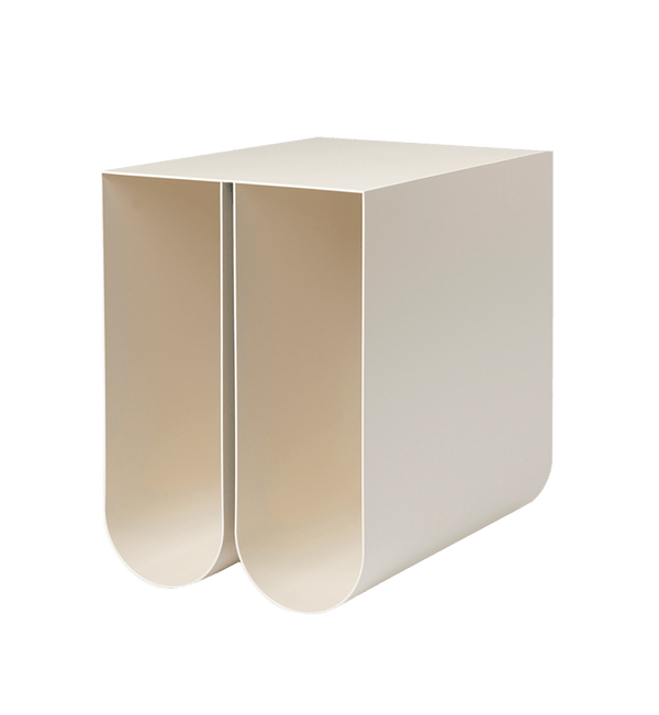Kristina Dam Sidebord, Curved Side Table, Beige - 26x35,5xH36