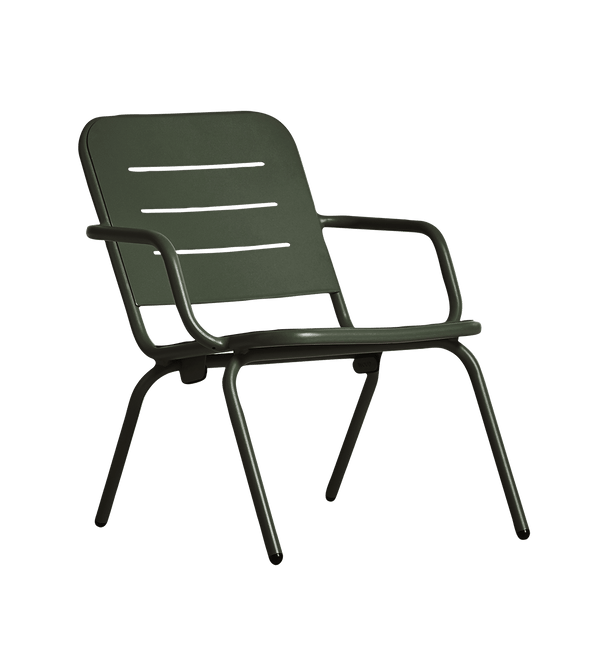 WOUD Loungestol, Ray, Dark Green - 65x68xH77