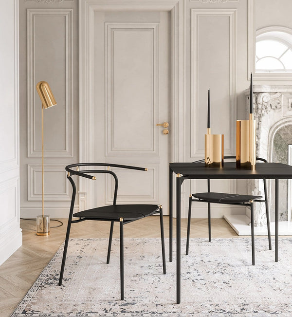 AYTM Stol, Novo Dining Chair, Sort & Guld