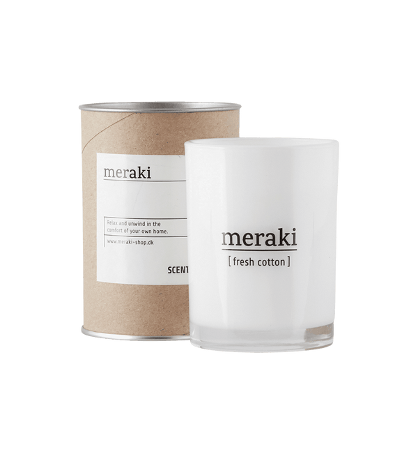 Meraki Stort Duftlys, Fresh Cotton