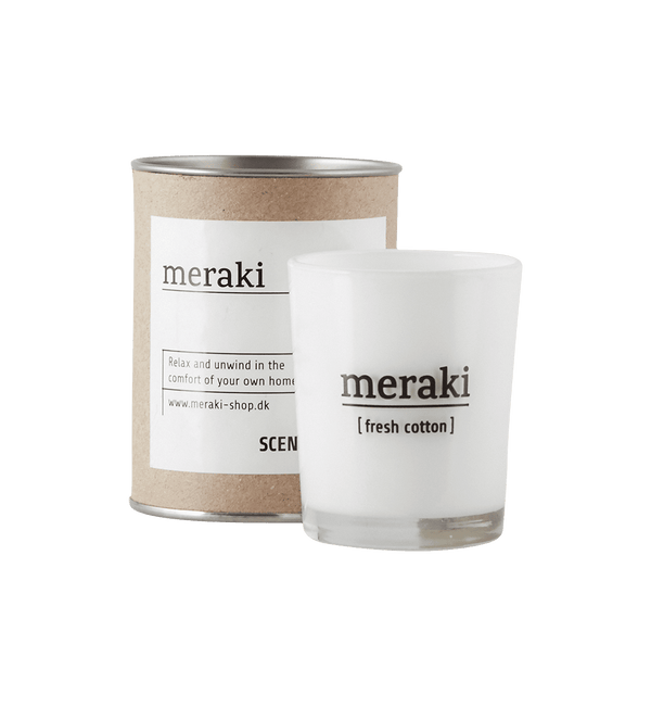 Meraki Lille Duftlys, Fresh Cotton