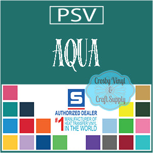 Permanent PS Sign Vinyl-Aqua