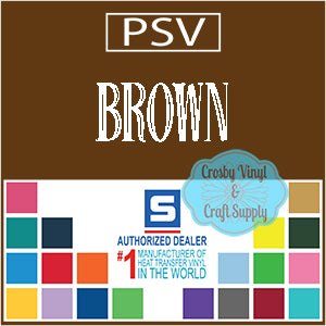 Permanent PS Sign Vinyl-Brown