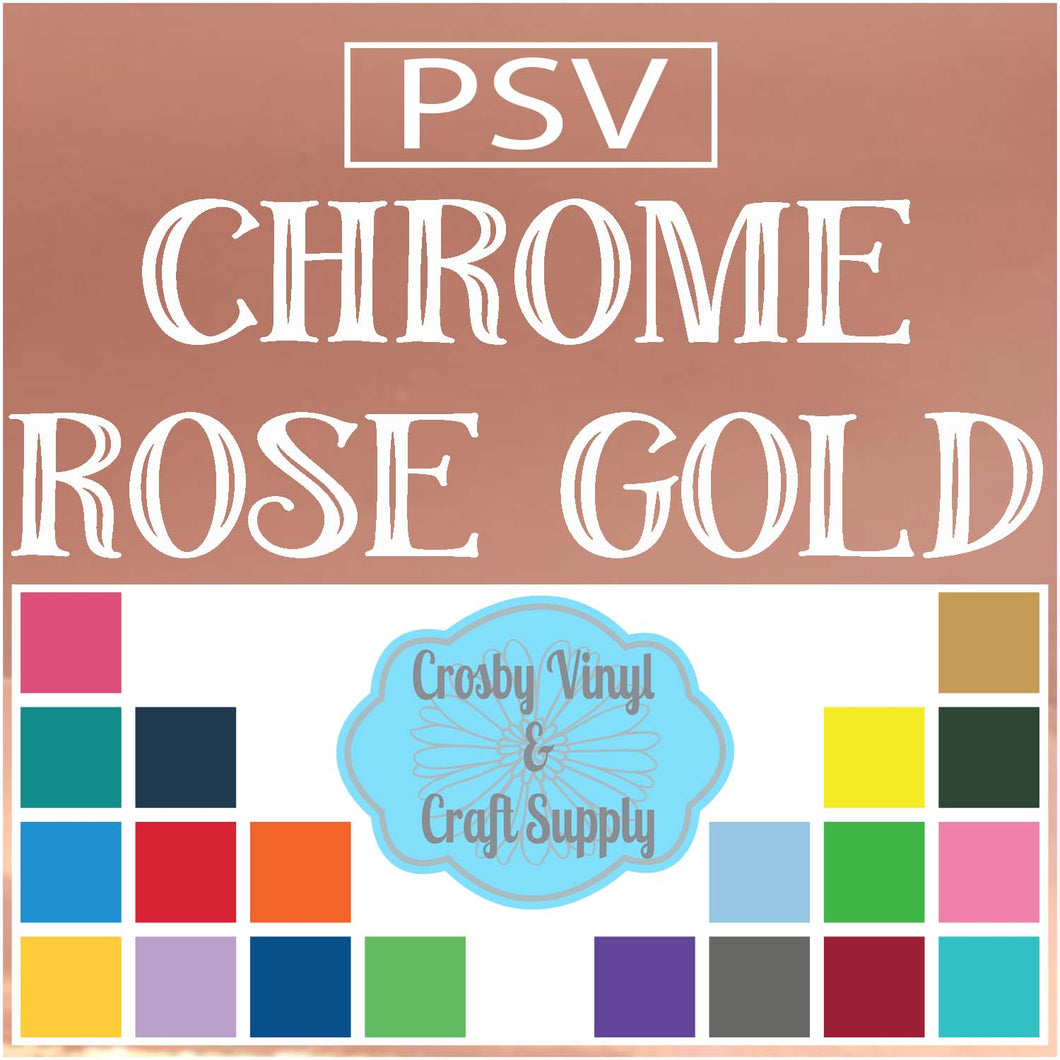 Permanent PS Sign Vinyl-Chrome Rose Gold
