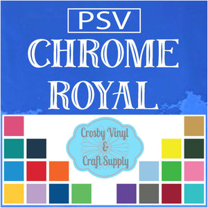 Permanent PS Sign Vinyl-Chrome Royal Blue