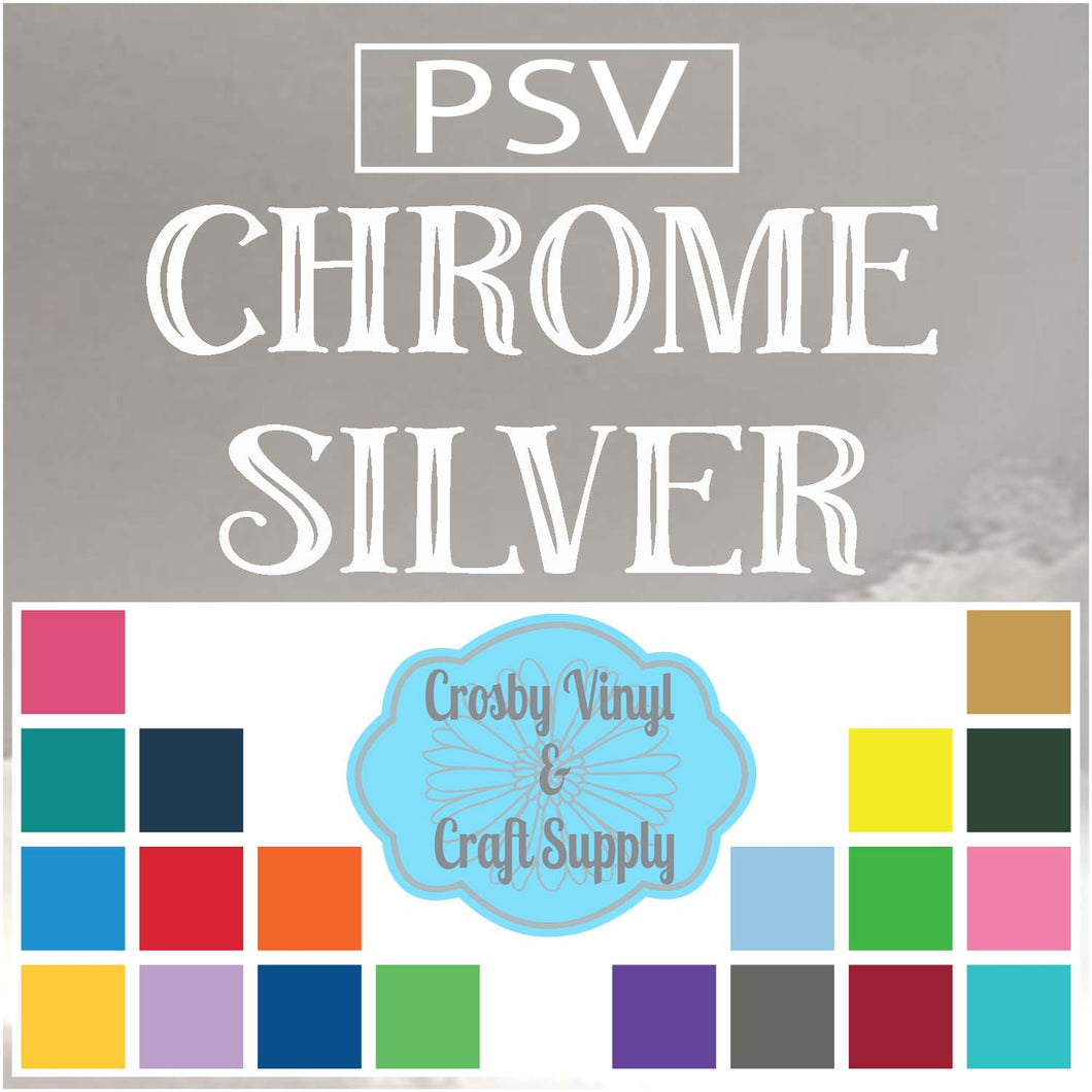 Permanent PS Sign Vinyl-Chrome Silver