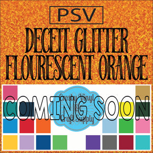 Permanent PS Sign Vinyl-Fluorescent Orange Deceit Glitter