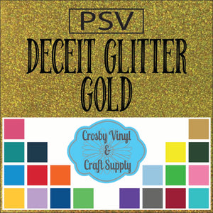 Permanent PS Sign Vinyl-Gold Deceit Glitter