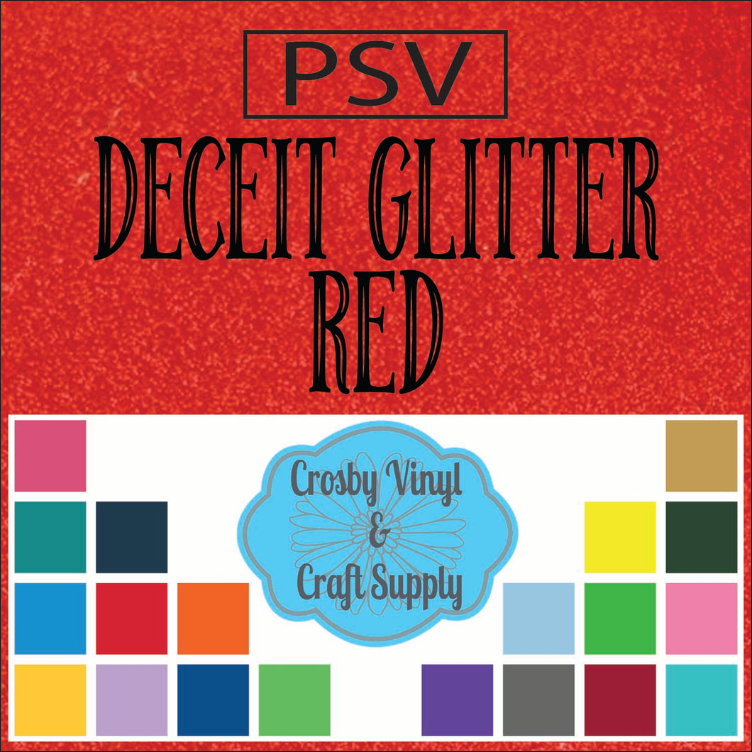 Permanent PS Sign Vinyl-Red Deceit Glitter