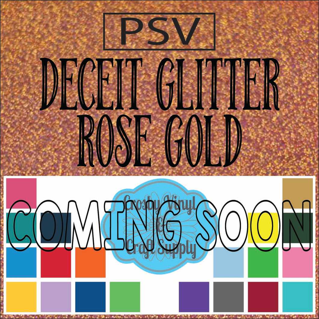 Permanent PS Sign Vinyl-Rose Gold Deceit Glitter