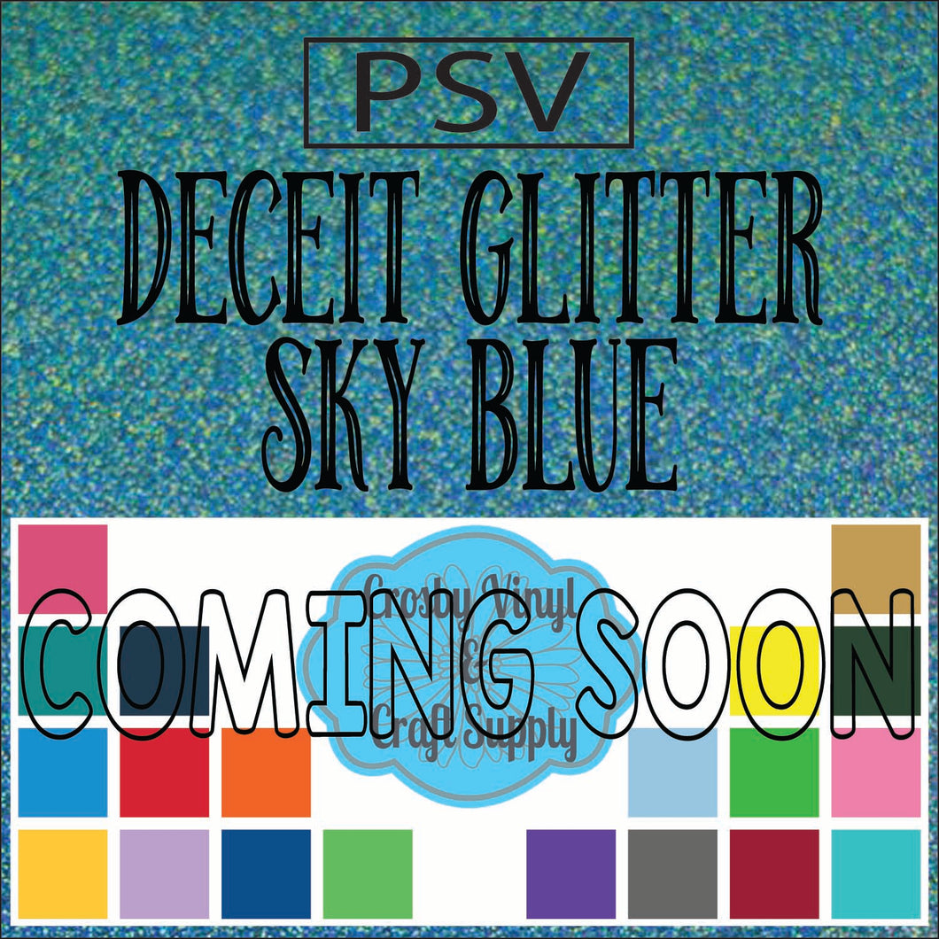 Permanent PS Sign Vinyl-Sky Blue Deceit Glitter
