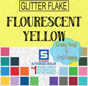 Glitter Flake-Fluorescent Yellow