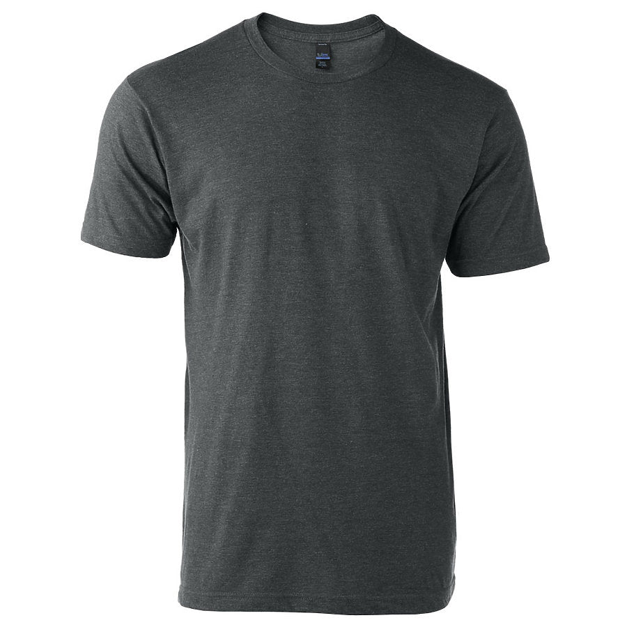 Tultex 202 Adult Crew-Heather Charcoal