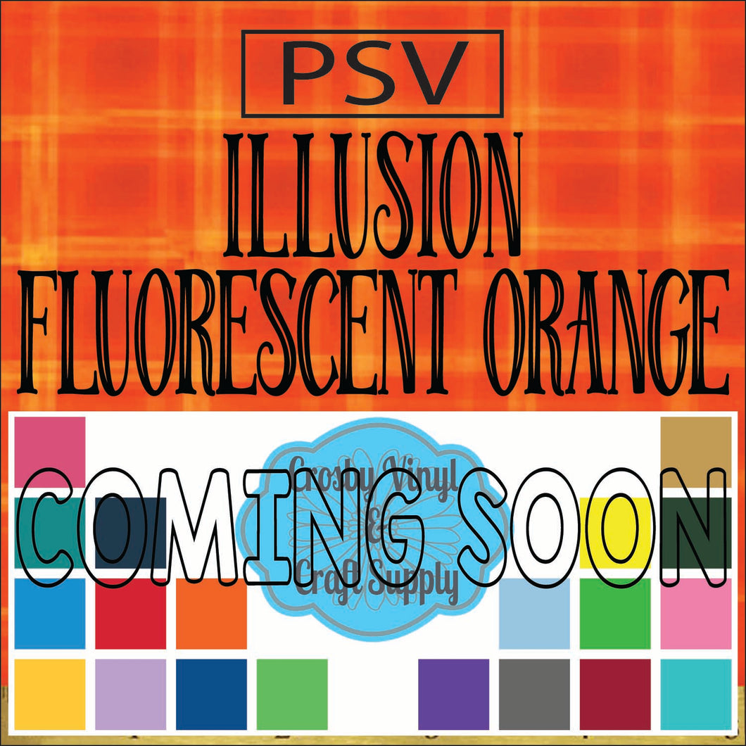 Permanent PS Sign Vinyl-Illusion Fluorescent Orange