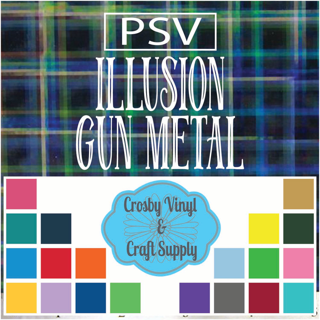 Permanent PS Sign Vinyl-Illusion Gun Metal