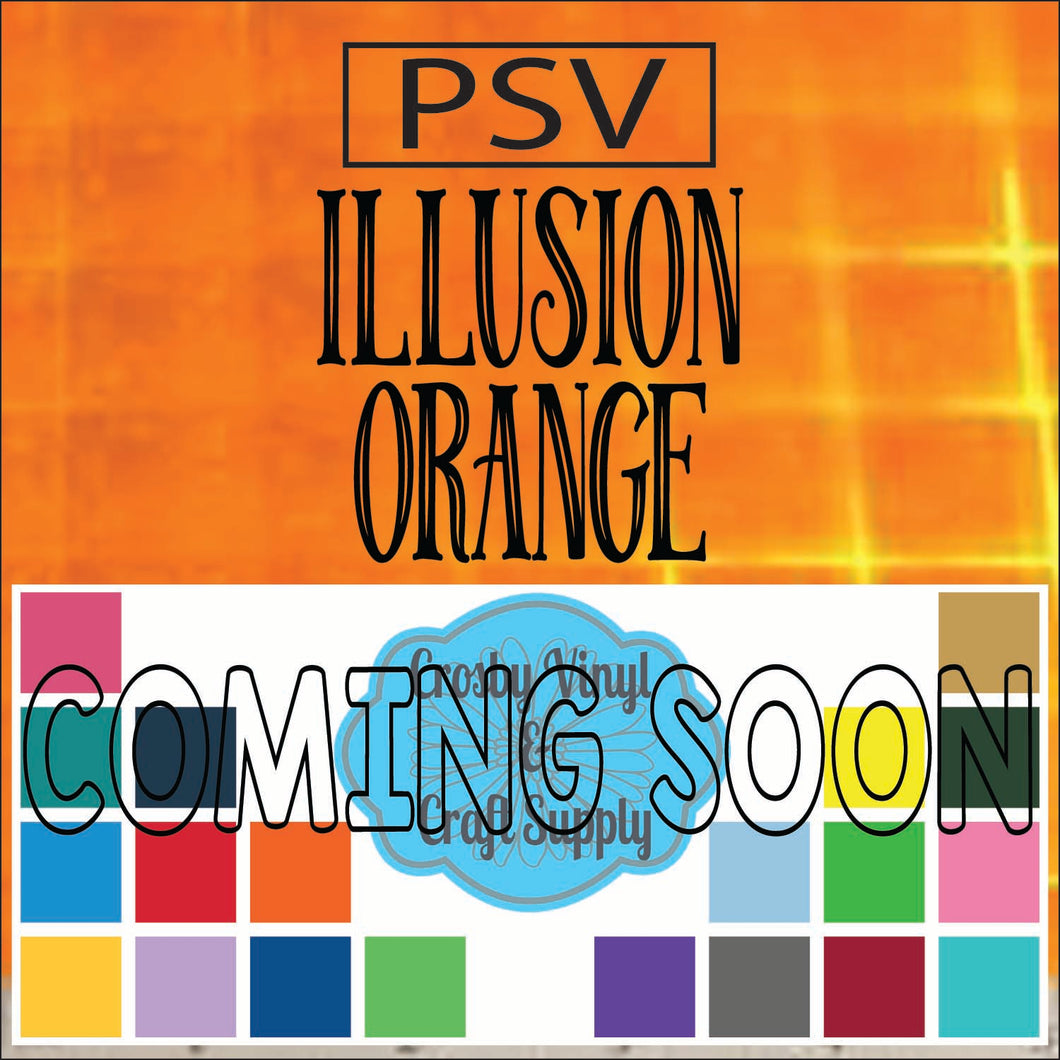 Permanent PS Sign Vinyl-Illusion Orange