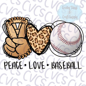 Peace Love Baseball