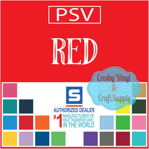 Permanent PS Sign Vinyl-Red
