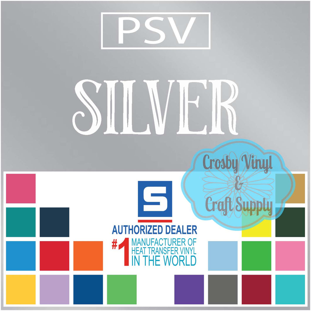 Permanent PS Sign Vinyl-Silver
